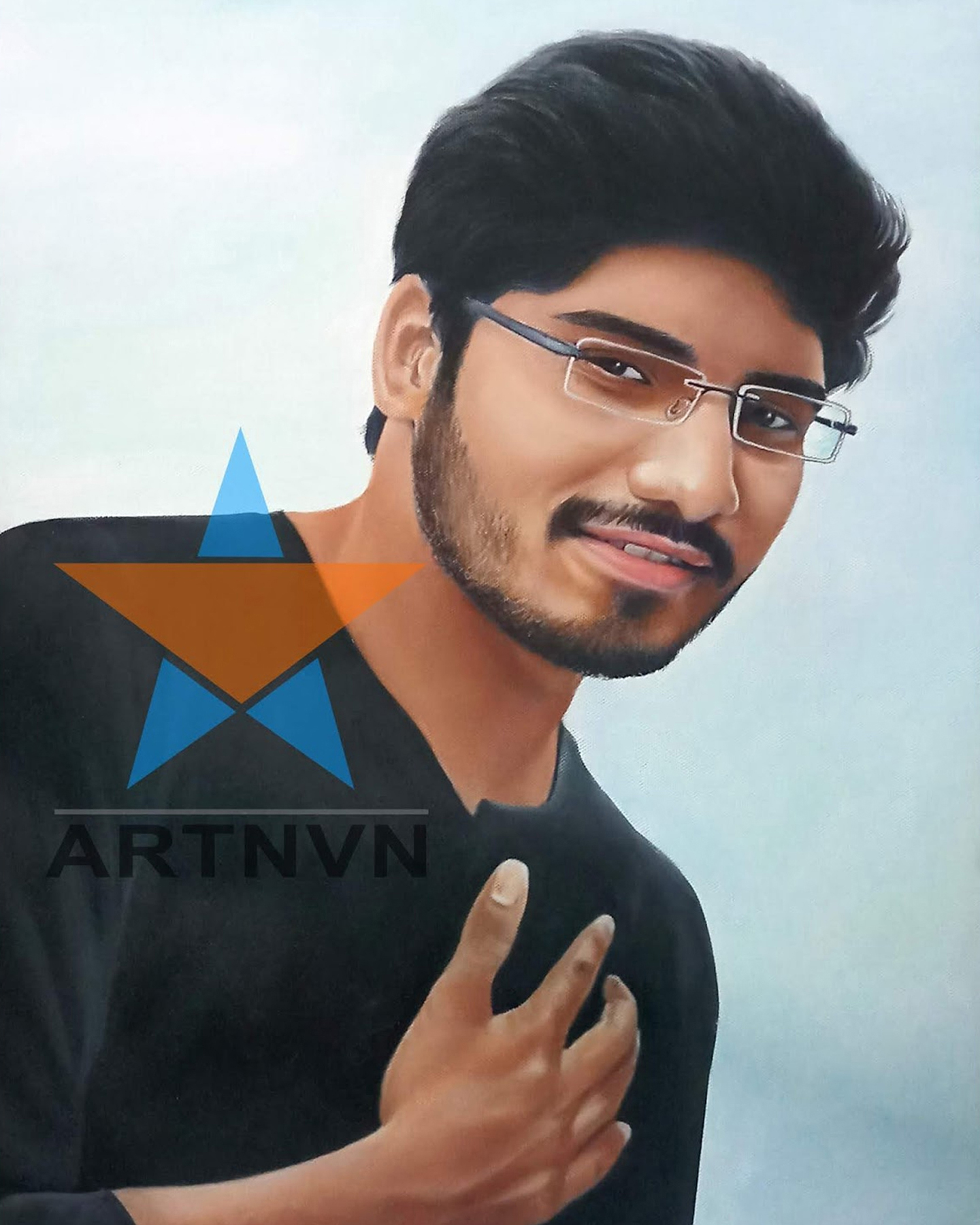 Portrait Photo Art Sketch Colour Canvas Oil Painting
