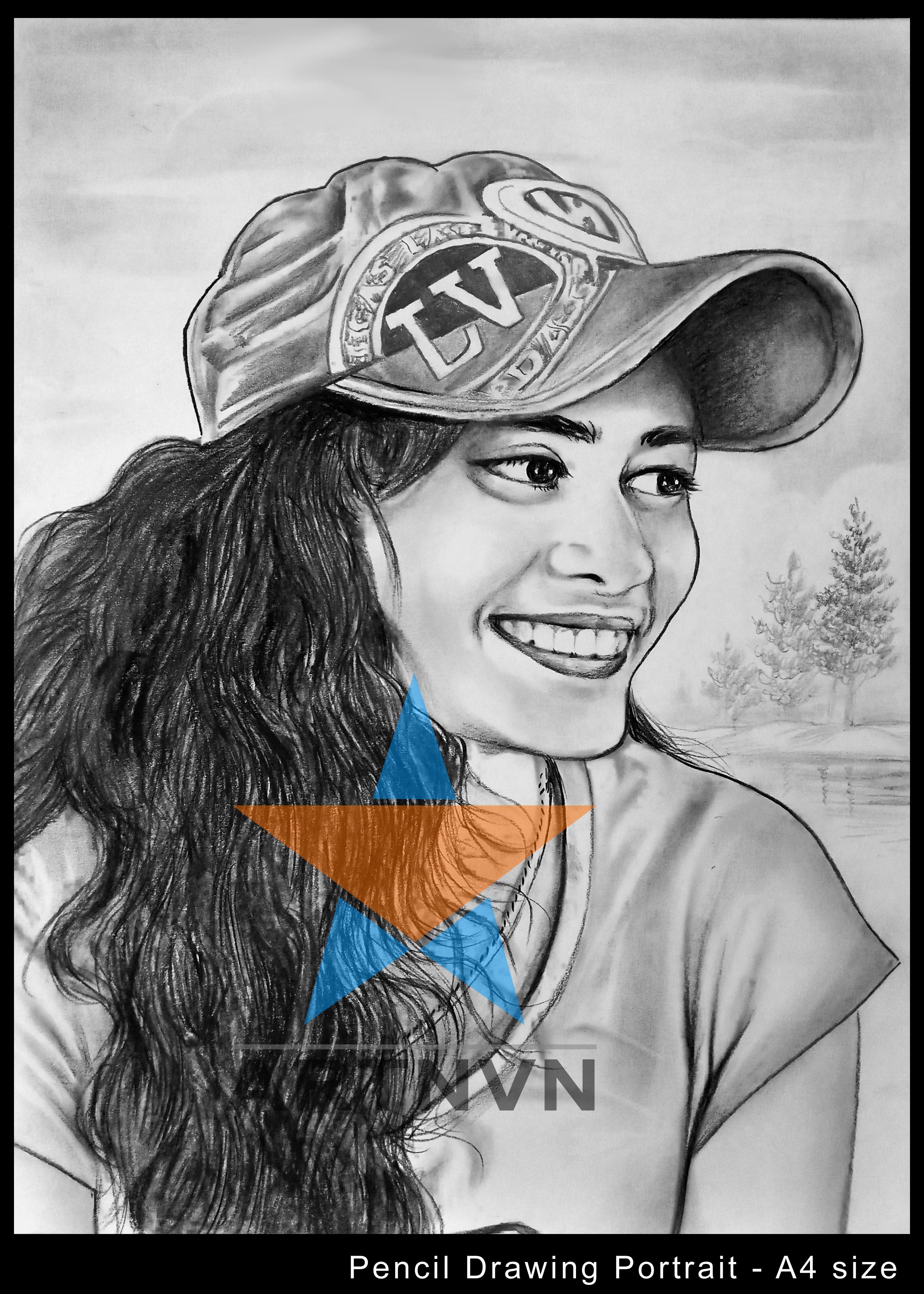 Portrait Art Sketch Painting Canvas Charcoal Artist Glow
